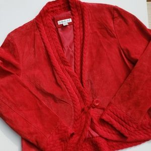 Cold water Creek Suede Jacket Red
